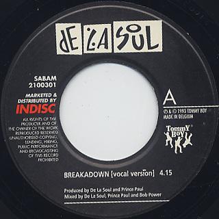 De La Soul / Breakadawn c/w En Focus label