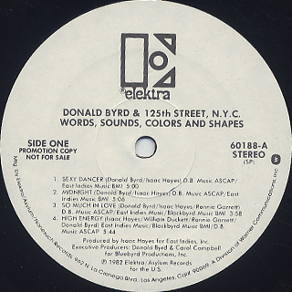 Donald Byrd And 125th Street, N.Y.C. / Words, Sounds, Colors And Shapes label