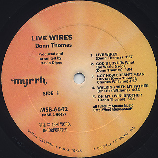 Donn Thomas / Live Wires label