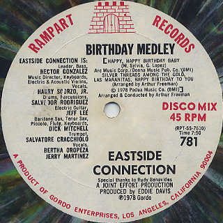 Eastside Connection / Frisco Disco c/w Birthday Medley back