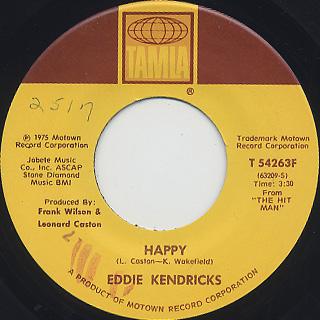Eddie Kendricks / Happy c/w Deep And Quiet Love