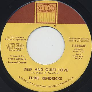 Eddie Kendricks / Happy c/w Deep And Quiet Love back