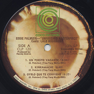 Eddie Palmieri / Unfinished Masterpiece label