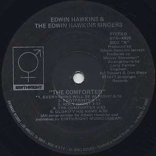 Edwin Hawkins And The Edwin Hawkins Singers / The Comforter label