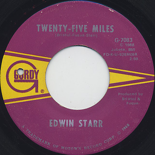 Edwin Starr / Twenty-Five Miles c/w Love Is My Destination front