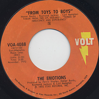 Emotions / From Toys To Boys c/w I Call This Loving You