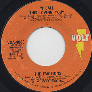 Emotions / From Toys To Boys c/w I Call This Loving You back