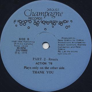 Erotic Drum Band / Action '78 Part 2 - Remix back