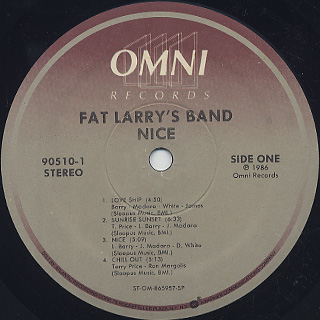 Fat Larry's Band / Nice label