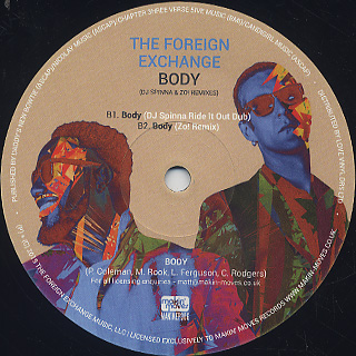 Foreign Exchange / Body (DJ Spinna & Zo! Remixes) back