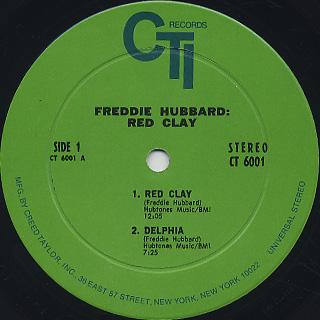 Freddie Hubbard / Red Clay label