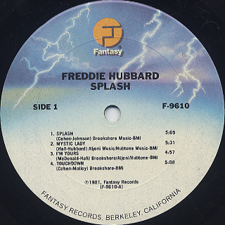 Freddie Hubbard / Splash label