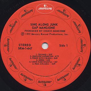 Gap Mangione / Sing Along Junk label