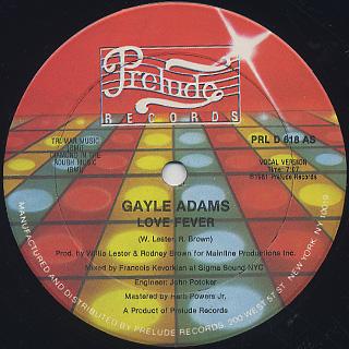Gayle Adams / Love Fever
