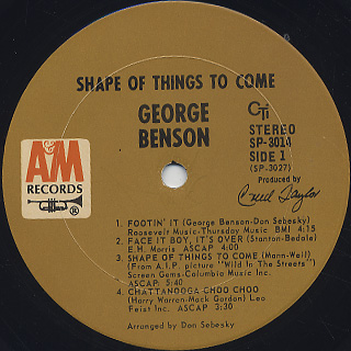 George Benson / Shape Of Things To Come label