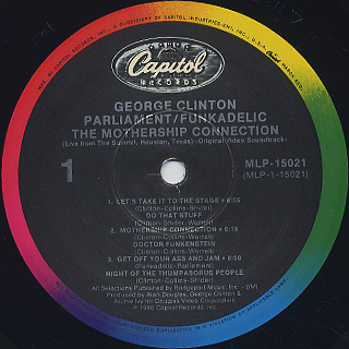 George Clinton, Parliament, Funkadelic / The Mothership Connection label