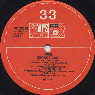 George Duke / Feel label