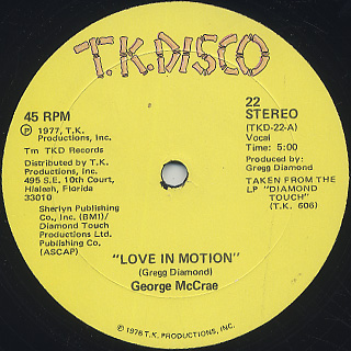 George McCrae / Love In Motion