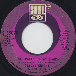 Gladys Knight And The Pips / If I Were Your Woman (45) back