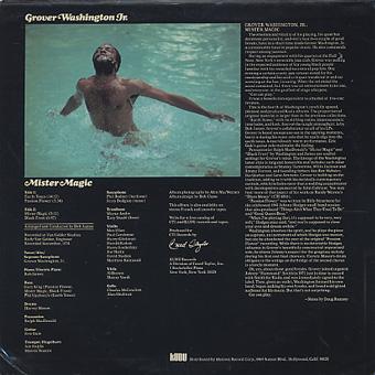 Grover Washington Jr. / Mister Magic back