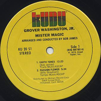 Grover Washington Jr. / Mister Magic label