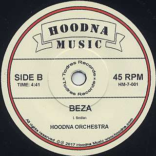 Hoodna Orchestra, Tesfaye Negatu / Yelben c/w Beza back