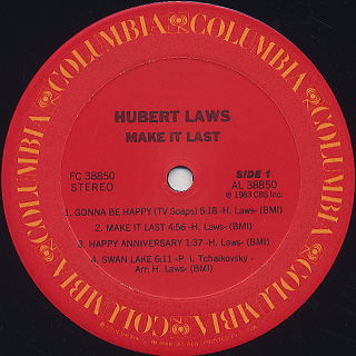 Hubert Laws / Make It Last label