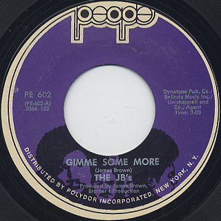 JB's / Gimme Some More c/w The Rabbit Got The Gun