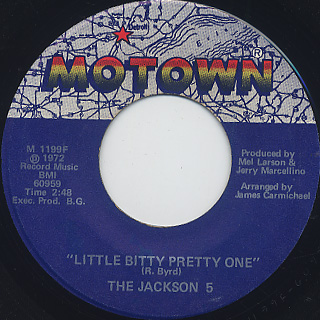 Jackson 5 / Little Bitty Pretty One c/w If I Have To Move A Mountain front