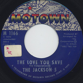 Jackson 5 / The Love You Save c/w I Found That Girl