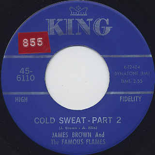 James Brown And The Famous Flames / Cold Sweat back