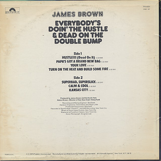James Brown / Everybody's Doin' The Hustle & Dead On The Double Bump back