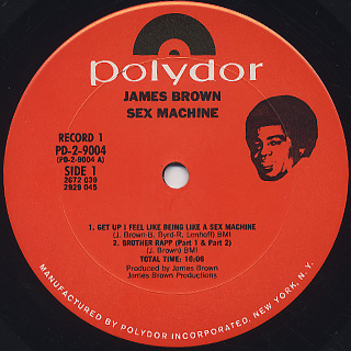 James Brown / Sex Machine label