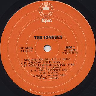 Joneses / S.T. label