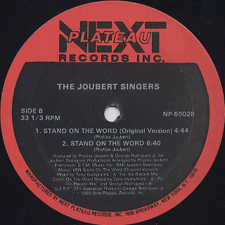 Joubert Singers / Stand On The Word back