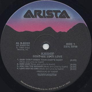 Kashif / Send Me Your Love label