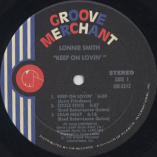 Lonnie Smith / Keep On Lovin' label