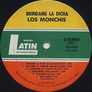 Los Monchis / Brindame La Dicha label