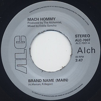 Mach Hommy / Brand Name back