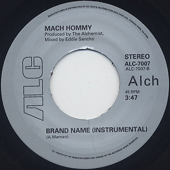 Mach Hommy / Brand Name label
