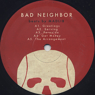 Madlib / Bad Neighbor Instrumentals label