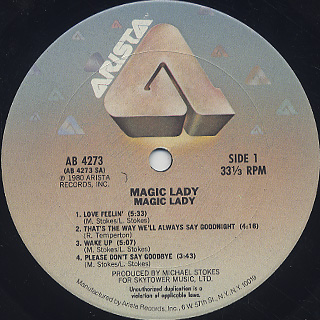Magic Lady / Magic Lady label