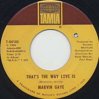 Marvin Gaye / That's The Way Love Is