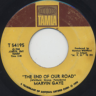 Marvin Gaye / The End Of Our Road