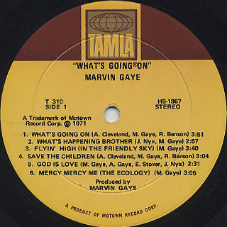 Marvin Gaye / What's Going On label