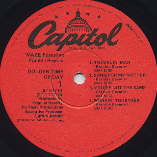 Maze / Golden Time Of Day label