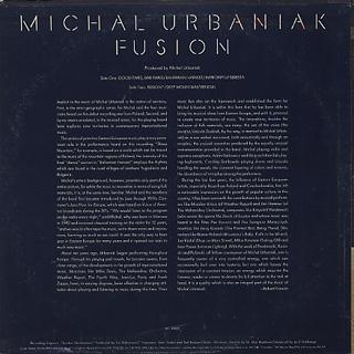 Michal Urbaniak / Fusion back
