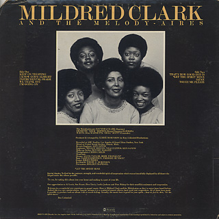 Mildred Clark And The Melody Aires / S.T. back
