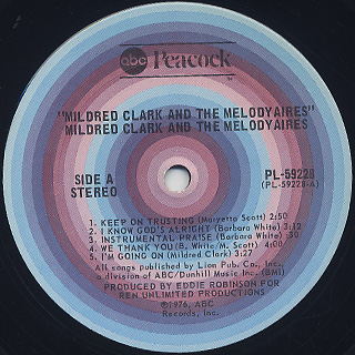 Mildred Clark And The Melody Aires / S.T. label