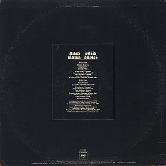Miles Davis / Water Babies back